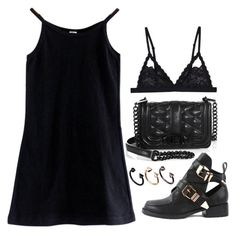 """""""Untitled #2135"""" by lilaclynn ❤ liked on Polyvore featuring Cosabella, American Apparel, Rebecca Minkoff and ASOS"""