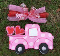 Valentine door hangerValentine truck door by Furnitureflipalabama