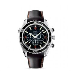 2910.51.82 : Omega Seamaster Planet Ocean 600M Co-Axial Chrono Orange Numerals / Rubber