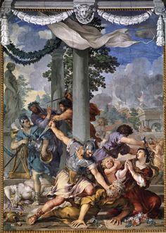 Pietro da Cortona - Age of Iron 1641 Fresco Palazzo Pitti, Florence. Italian Baroque, Baroque Art, Caravaggio, Palacio Pitti, 17th Century Art, Classic Paintings, Italian Painters, Chef D Oeuvre, Iron Age