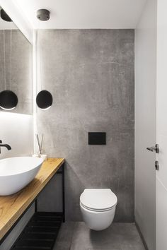 gastetoilette-marble-bathroom-decor-powder-room-nail-effect - The world's most private search engine Small Wet Room, Small Toilet Room, Guest Toilet, Downstairs Toilet, Tiny Powder Rooms, Modern Powder Rooms, Powder Room Decor, Powder Room Design, Bad Inspiration