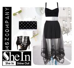 """""""SheIn Contest (Black Elastic Waist Embroidered Hem Mesh Skirt)"""" by mszcompany ❤ liked on Polyvore featuring Michael Kors, Dolce&Gabbana and Alexander McQueen"""