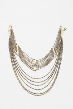 Draping Chains Choker Necklace #urbanoutfitters