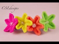 ▶ Easy macrame flower - YouTube