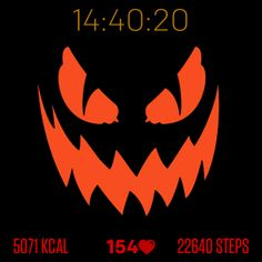 Spooky Halloween is a simple Halloween designed Fitbit watchface that displays: - Time (hour, minutes and seconds) - Calories burned today - Steps made today - Current heart rate (BPM) 👆 Tap the watchface to change the main theme.