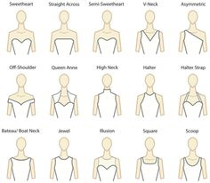 Unique Types of Necklines with d uItalia Fabric Bridal Gown Examples