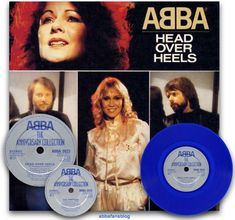 "Abba's ""Head Over Heels"" on blue vinyl #Abba #Vinyl http://abbafansblog.blogspot.co.uk/2016/02/blue-vinyl-head-over-heels.html"