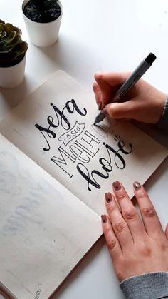 Brush Lettering Quotes, Hand Lettering Art, Watercolor Lettering, Creative Lettering, Bullet Journal Entries, Bullet Journal Banner, Bullet Journal Books, Lettering Tutorial, Bible Doodling