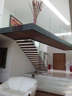 Escalera: Pasillo, hall y escaleras de estilo translation missing: mx.style.pasillo-hall-y-escaleras.moderno por AParquitectos