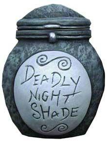 Deadly Nightshade ceramic jar Nightmare Before Christmas