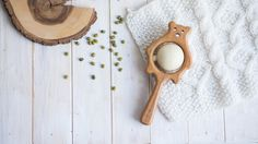 Traditional Wooden Rattle. Teething Toy. Natural Wooden Infant Toy. Eco Friendly Baby toy. Bear rattle. Christmas gift. Newborn gift. by tinyfoxhole on Etsy https://www.etsy.com/listing/288834403/traditional-wooden-rattle-teething-toy