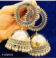 Diva Elegant Oxidized Metal Earrings Vol 14 Material: Oxidized Metal Size: Free Size Description: It Has 1 Pair Of Earring Work: Embellished Dispatch: 2 - 3 Days # Indian Jewelry Earrings, Jhumki Earrings, Buy Earrings, Fancy Jewellery, Fancy Earrings, Silver Jewellery Indian, Jewelry Design Earrings, Ear Jewelry, Designer Earrings