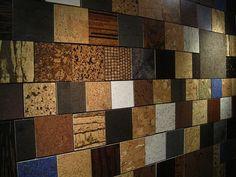 Cork floor samples.