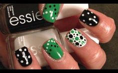 Dotting Tutorial--Nail Art Made Easy!! - Polka dots... I love them. Reminds me of an over bust corset I have that is red with black polka dots and is very burlesque in style. Maybe a reverse scheme of black nails with red dots would work.