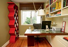 Small home office decorating and storage