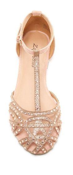 Embellished sandal flats //