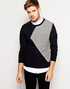 River Island Jumper With Colour Block Detail