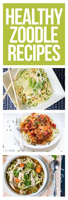 Cut carbs with zucchini noodles!