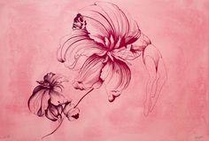 Litografi, frihåndtegning med blekk og pennesplitt 61 x 90 cm opplag 70. Leaf Tattoos, Graphic Prints, Watercolor Tattoo, Art Drawings, Fine Art, Flowers, Artist, Artwork, Painting
