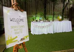 The Sweet Society reptile party. Style Me Gorgeous 'Creepy Crawly' printables.