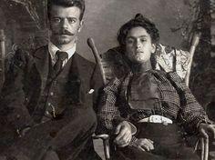 Photo of Frida Kahlo's parents: Matilde Calderón y González and Guillermo Kahlo