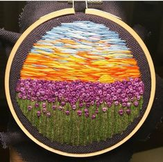 How to crochet flower. Embroidery Hoop Art, Cross Stitch Embroidery, Embroidery Patterns, Seed Bead Crafts, Thread Painting, Patch Quilt, Embroidery Techniques, Cross Stitching, Textile Art