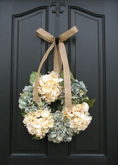 i can make this for much cheaper!!  Summer Decor - Housewarming Gift - Bedroom Decorations - Door Wreath. $70.00, via Etsy.