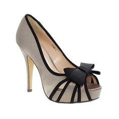 Beige Lunar Bow Trim Court Shoes - High heel shoes - Shoes & boots - Women -