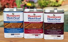 The new Thompson's WaterSeal Waterproofing Stain is available in three opacities: Transparent, Semi-Transparent and Solid.