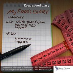 Writing down what you eat can shed light on your true eating habits. Monitor what you eat, how you eat & when.