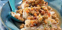 Bacalhau com ragu de grão-de-bico (Foto: Iara Venanzi/Casa e Comida) | Brazilian Recipe