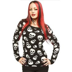 "Women's ""Lust For Skulls"" Sweater by Sourpuss Clothing (Black)"