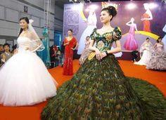 Amazing Peacock wedding dress