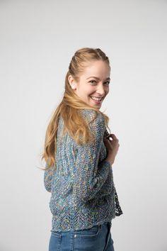 38f7fd3ec Giuseppina Cardigan knitting pattern download! Hand knit in Filatura di  Crosa Opera yarn
