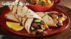 Grilled chicken fajitas!