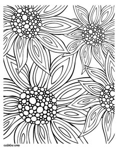 "zentangle daisy  -- there are actually 3 flower designs in the PDF offered free in this blog post -- ""Zentangle"" is a new art genre to me, though I have done it in my own doodling for a long time :)"