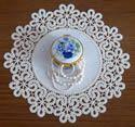 10479 Battenberg lace doily machine embroidery