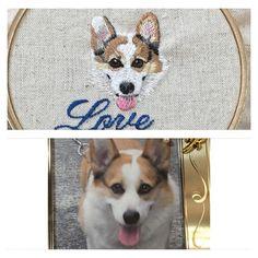 #embroidery #embroideryinstaguild #embroideryhoop #embroideryart #handmade #handembroidery #stitch #stitchart #stitching #needlework #dogstagram #dog  #pet #pets #animal #animals #刺繍 #手刺繍 #ハンドメイド #犬 #いぬ #わんこ #愛犬 #ペット #コーギー #chihuahua #ステッチ #手芸 #corgi