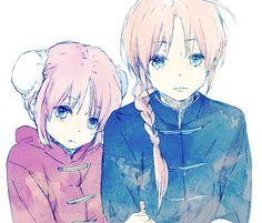 Gintama [★][★][★] Kamui and Kagura Anime Siblings, Anime Couples, Anime Chibi, Anime Art, Kamui Gintama, Okikagu, Bare Bears, Female Anime, Dark Souls