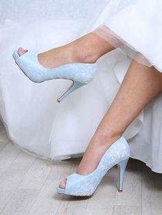 Bridal Shoes Worcester Perfect Bridal Celia Blue 4333