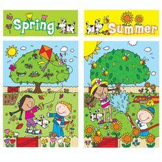 Four Seasons Bulletin Board Set