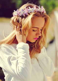 DIY - Blomsterkrans til hår (martheborge)