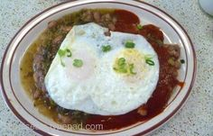 Huevos Rancheros from Southwest Diner   http://www.chowzter.com/fast-feasts/north-america/St.%20Louis/review/Southwest-Diner/Huevos-Rancheros/5720_5795