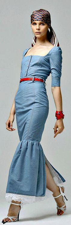 Farb-und Stilberatung mit www.farben-reich.com - Denim and lace - Alessandra Rich for Net-a-Porter