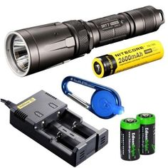 Special Offers - Nitecore SRT7 Revenger (Gray) 960 Lumens XM-L2 LED Built in Red Green Blue Lights Red-Blue Strobe Variable brightness Flashlight/searchlight with Genuine Nitecore NL186 18650 2600mAh Li-ion rechargeable battery Nitecore i2 intelligent Charger Car Charging Cable Smith & Wesson LED CaraBeamer Clip Light and 2 X EdisonBright CR123A Batteries - In stock & Free Shipping. You can save more money! Check It (November 16 2016 at 02:45AM)…
