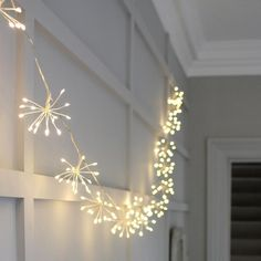 Star Burst Light Chain Silver Starburst Light Chain - these amazing lights will add warmth and interest to your home or garden. They are really versatile and can be used anywhere in the home. Drape them around mirrors, over the fireplace as a center-piece running through the middle of your dinner table.The list is end White Led Lights, Led String Lights, Hanging Lights, Fairy Lights, Ceiling Lights, Window Lights, Star Lights, Battery Operated Lights, Battery Lights