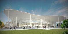 Competition Entry: Ruch Chorzów Football Stadium / Andrea Maffei Architects