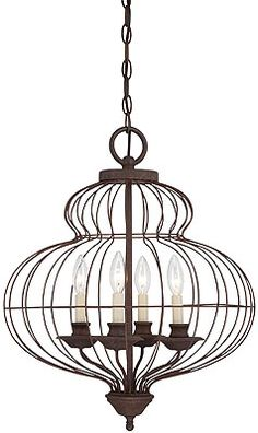 LOVE this vintage/rustic light fixture!