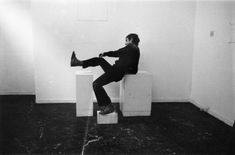Bruce McLean. Pose Piece For Three Plinths Work, 1971 (detail). Photograph. David Roberts Collection, London.