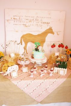 And Everything Sweet: Horse Themed 2nd Birthday - Rice Krispie Treat Hay Bales